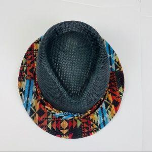 NWOT Zara Aztec Brim Fedora Hat OS